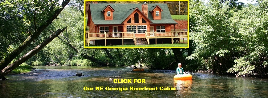 North Georgia Riverfront Cabin for rent